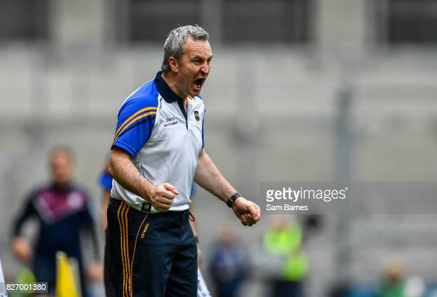 Dublin Ireland 6 August 2017 Tipperary manager Michael Ryan during the GAA Hurling AllIreland Senior Championship SemiFinal match between Galway and...