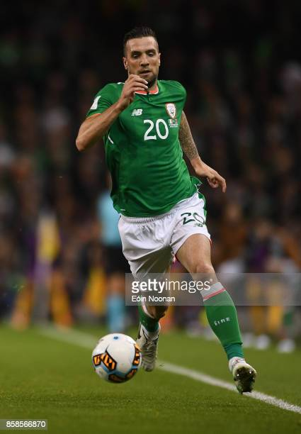 Dublin Ireland 6 October 2017 Shane Duffy of Republic of Ireland during the FIFA World Cup Qualifier Group D match between Republic of Ireland and...