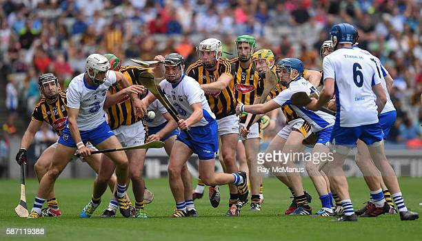 Dublin Ireland 7 August 2016 Waterford playersShane Fives Pauric Mahony Conor Gleeson Austin Gleeson 6 and Philip Mahony vie for possession with...