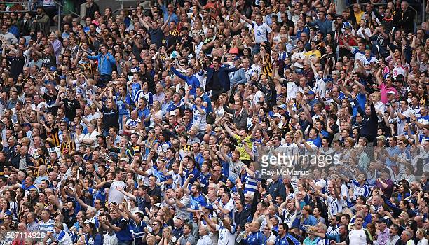 Dublin Ireland 7 August 2016 Waterford supporters in the Hogan Stand react during the GAA Hurling AllIreland Senior Championship SemiFinal match...