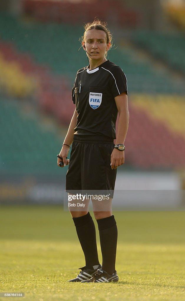 Dublin , Ireland - 7 June 2016; Referee Ivana Projkovska during the Women's 2017 European Championship Qualifier between Republic of Ireland and Montenegro in Tallaght Stadium, Tallaght, Co. Dublin.