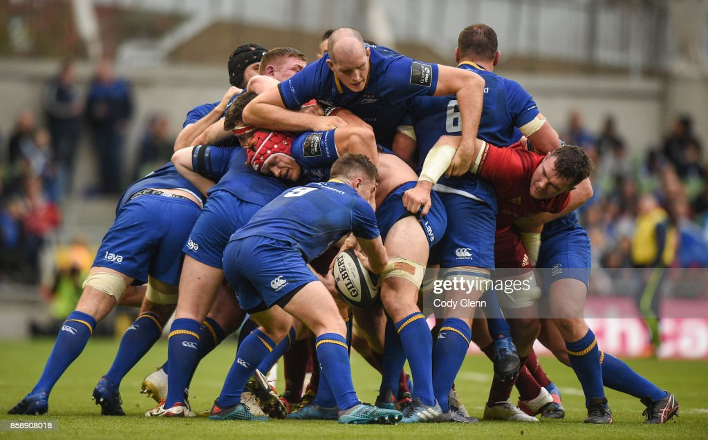 Dublin , Ireland - 7 October 2017; A maul during the Guinness PRO14 Round 6 match between Leinster and Munster at the Aviva Stadium in Dublin.
