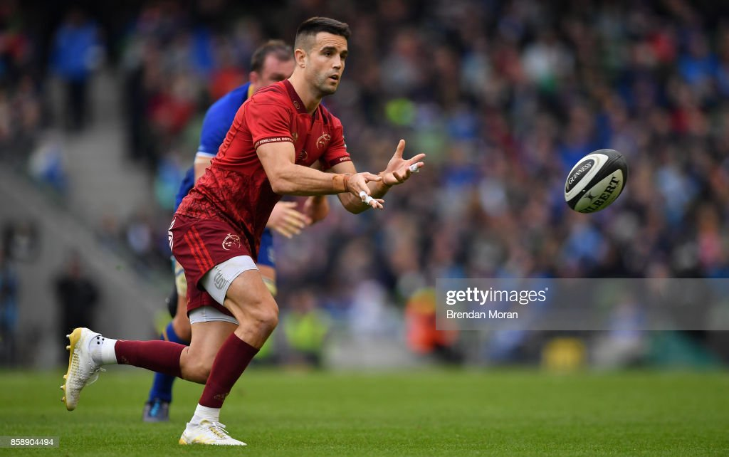 Dublin , Ireland - 7 October 2017; Conor Murray of Munster during the Guinness PRO14 Round 6 match between Leinster and Munster at the Aviva Stadium in Dublin.