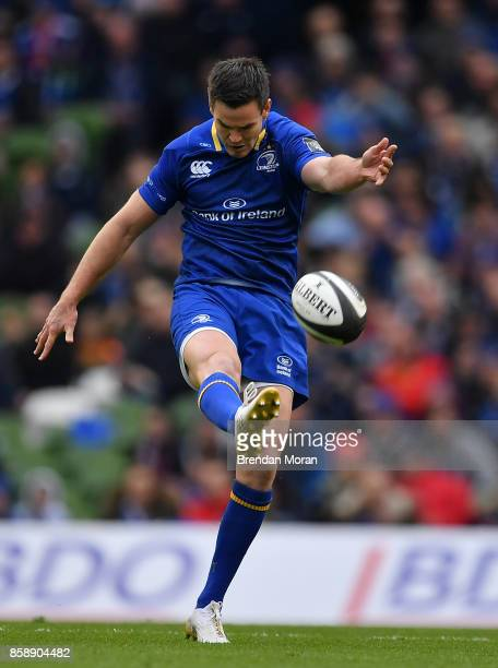 Dublin Ireland 7 October 2017 Jonathan Sexton of Leinster during the Guinness PRO14 Round 6 match between Leinster and Munster at the Aviva Stadium...