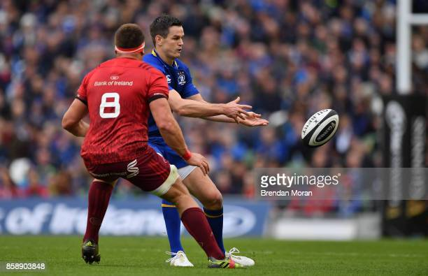 Dublin Ireland 7 October 2017 Jonathan Sexton of Leinster in action against CJ Stander of Munster during the Guinness PRO14 Round 6 match between...