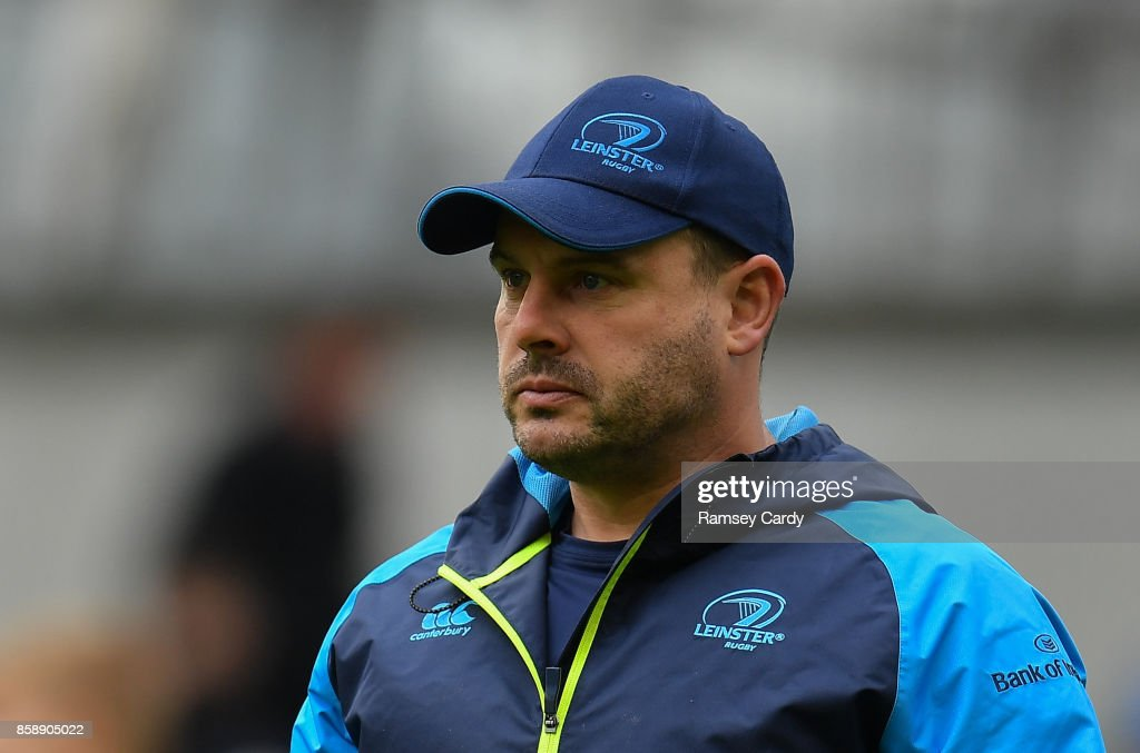 Dublin , Ireland - 7 October 2017; Leinster kicking coach and head analyst Emmet Farrell during the Guinness PRO14 Round 6 match between Leinster and Munster at the Aviva Stadium in Dublin.