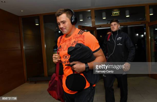Dublin Ireland 7 October 2017 Munster's CJ Stander arrives ahead of the Guinness PRO14 Round 6 match between Leinster and Munster at the Aviva...