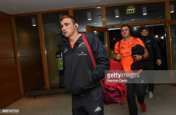 Dublin Ireland 7 October 2017 Munster's Tommy ODonnell arrives ahead of the Guinness PRO14 Round 6 match between Leinster and Munster at the Aviva...