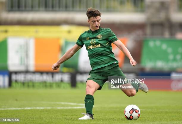 Dublin Ireland 8 July 2017 Kieran Tierney of Glasgow Celtic during the friendly match between Shamrock Rovers and Glasgow Celtic at Tallaght Stadium...