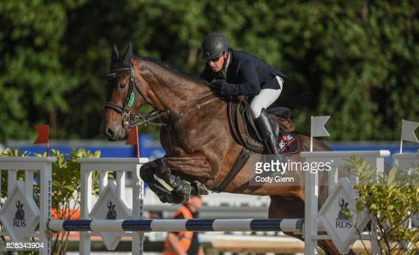Dublin Ireland 9 August 2017 Retired National Hunt jockey Paul Carberry of Ireland competing on Brandonview First Edition during the Inter 3...