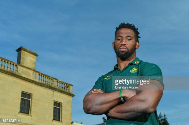 Dublin Ireland 9 November 2017 Siya Kolisi poses for a portrait after a South Africa Press Conference at Radisson Blu Hotel in Stillorgan Dublin