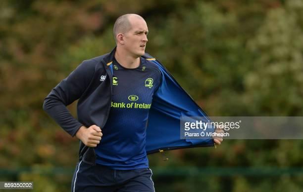 Dublin Ireland 9 October 2017 Leinster's Devin Toner during squad training at Thornfields in UCD Belfield Dublin