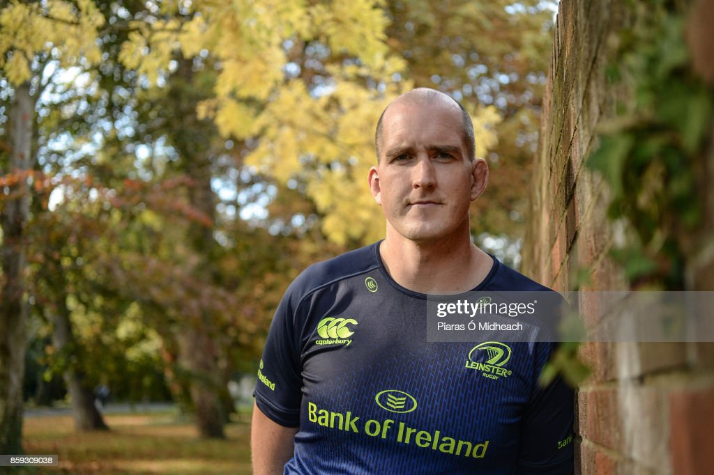 Dublin , Ireland - 9 October 2017; Leinster's Devin Toner poses for a portrait after a press conference at Leinster Rugby HQ in UCD, Belfield, Dublin.