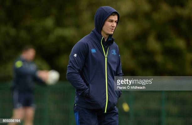 Dublin Ireland 9 October 2017 Leinster's Jonathan Sexton during squad training at Thornfields in UCD Belfield Dublin
