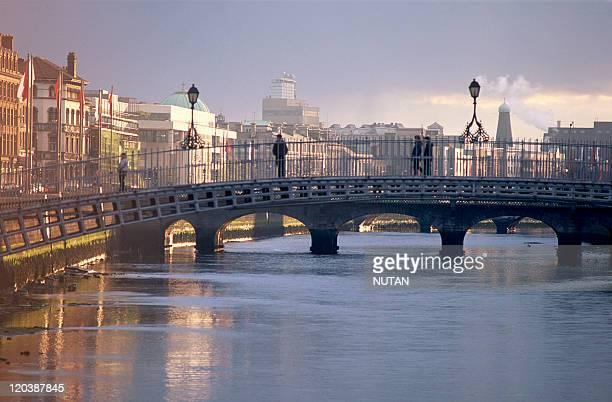 Dublin Ireland in 1996 The Liffey River in the center of Dublin