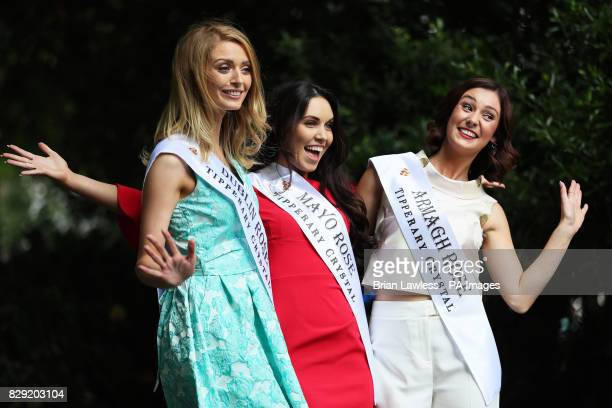 Dublin rose Maria Coughlan Mayo rose Sandra Ganley and Armagh rose Nicole McKeown who are preparing for their journey to Tralee for the Rose of...
