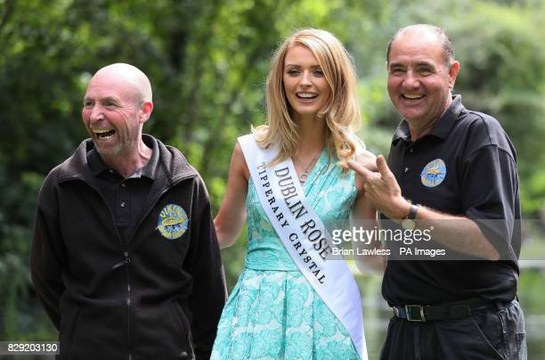 Dublin rose Maria Coughlan with dubliners Gerry O'Neill and Pat Ray as roses from Ireland and overseas who are preparing for their journey to Tralee...