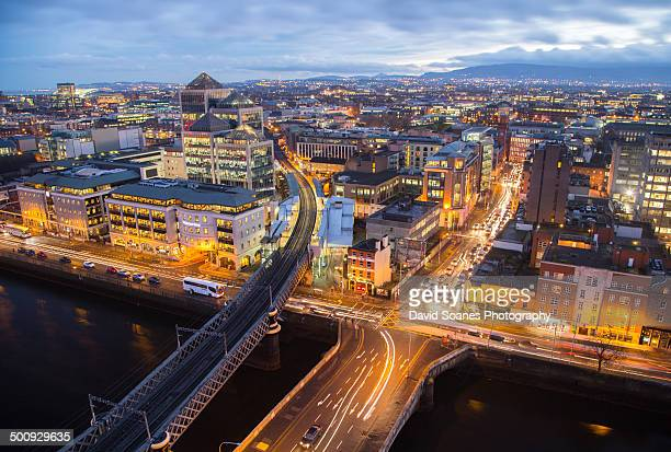 Dublin skyline at night