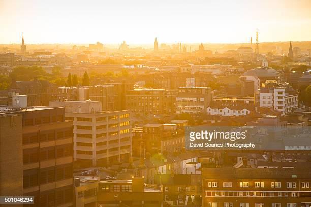 Dublin skyline at sunset, Ireland