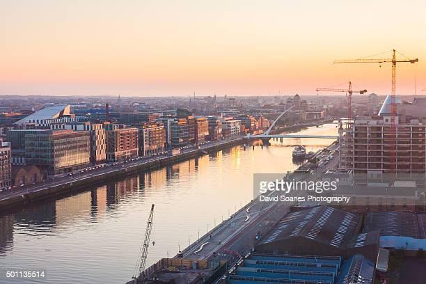 Dublin Skyline at sunset