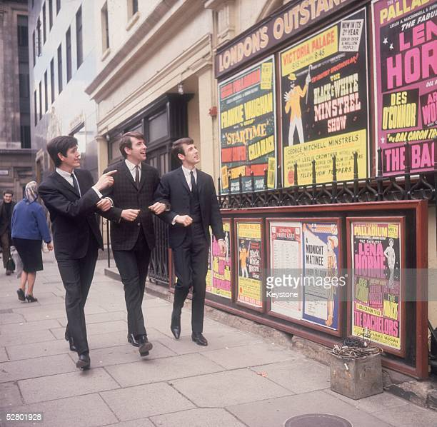 Dublinborn easy listening vocal trio The Bachelors consisting of left to right John Stokes Declan Cluskey Conleth Cluskey mid 1960s