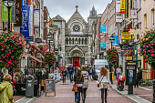 Shoppers on Grafton Street. Dublin, Ireland