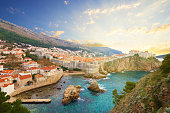 Sea Walls - part of Dubrovnik military defences - defend the city from sea-based attacks.