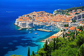A panoramic view of the walled city, Dubrovnik Croatia