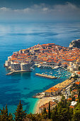 Beautiful romantic old town of Dubrovnik during sunny day, Croatia,Europe.