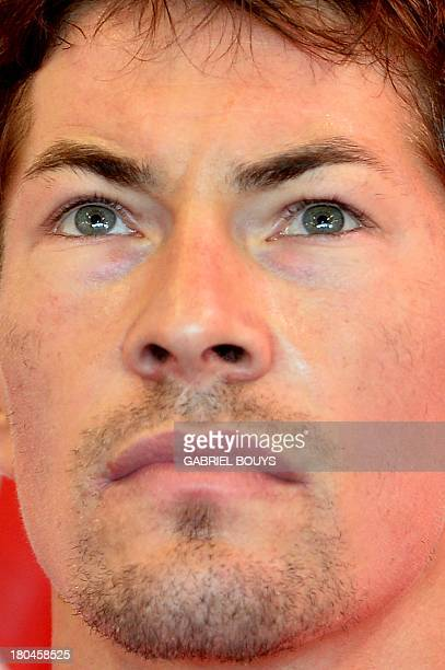 Ducati rider Nicky Hayden of the US is pictured in the pits during the first free practice of the San Marino Moto Grand Prix on September 13 2013 at...