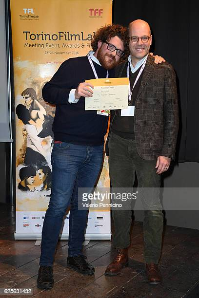 Duccio Chiarini attends TorinoFilmLab award ceremony during the 34 Torino Film Festival on November 24 2016 in Turin Italy