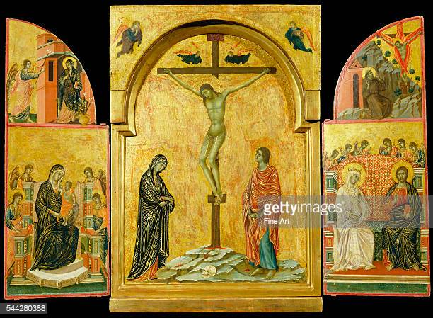 Duccio di Buoninsegna Crucifixion Altarpiece 13028 tempera on panel Royal Collection United Kingdom