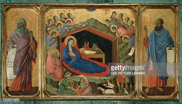 Duccio di Buoninsegna Nativity Predella panel of the AltarPiece of the Maestà di Siena