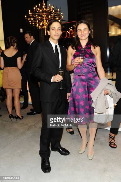 Duccio Fabbri and Chiara Rodriquez attend FLOS Private Store Viewing and Dinner at 152 Greene St on May 14 2010 in New York City