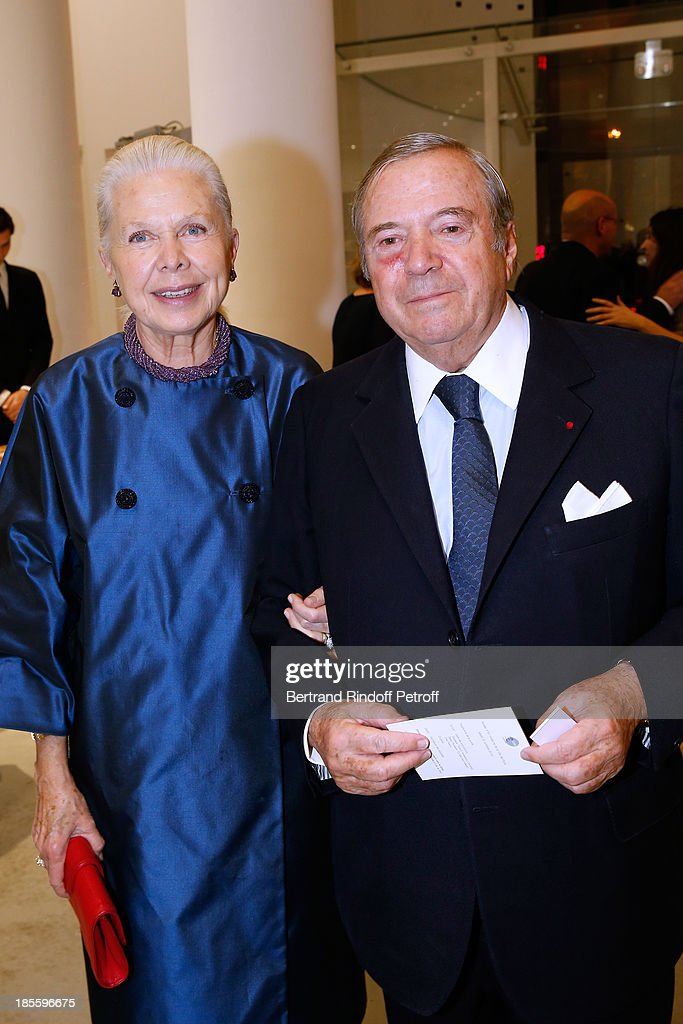 Duchess Gersande d'Orleans and Hubert Guerrand-Hermes attend the dinner of the friends of the 'Musee d'Art Moderne de la ville de Paris' on October 22, 2013 in Paris, France.