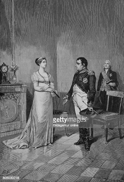 Duchess Louise of MecklenburgStrelitz and Napoleon Bonaparte in Tilsit