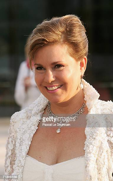 Duchess Maria Teresa arrives at the Grand Theater to attend a special performance on June 30 2006 in Luxembourg as part of her silver wedding...