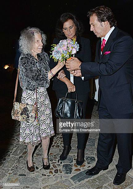 Duchess of Alba Cayetana FitzJames Stuart and Carmen Tello attend X Festival de las Naciones Charity Awards at Real Alcazar on October 21 2013 in...