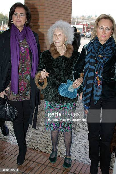 Duchess of Alba Cayetana FitzJames Stuart and Carmen Tello during the second day of the International Flamenco Fashion Show 'SIMOF' on January 31...