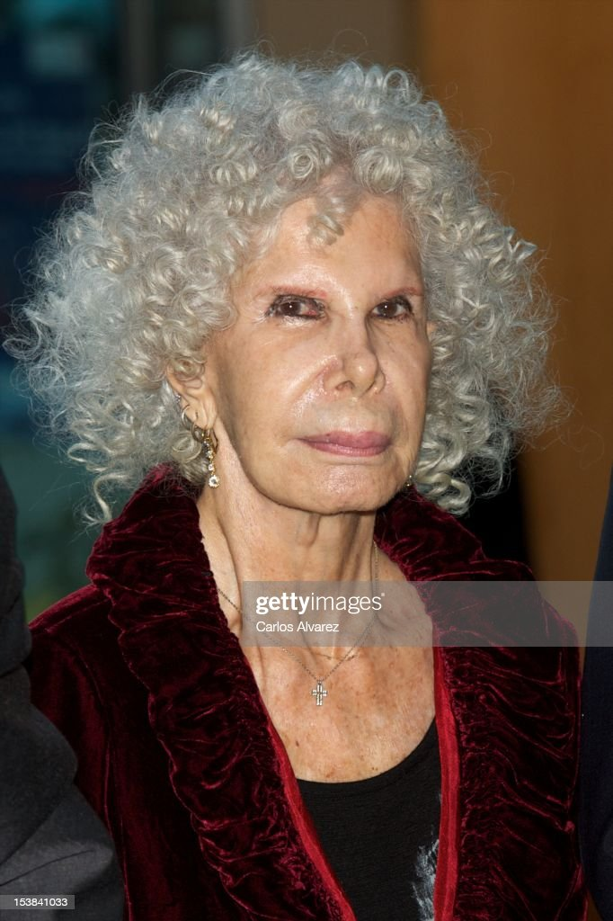 Duchess of Alba, <a gi-track='captionPersonalityLinkClicked' href=/galleries/search?phrase=Cayetana+Fitz-James+Stuart&family=editorial&specificpeople=6090682 ng-click='$event.stopPropagation()'>Cayetana Fitz-James Stuart</a> attends the Ainhoa Arteta Concert at El Canal Theater on October 9, 2012 in Madrid, Spain.