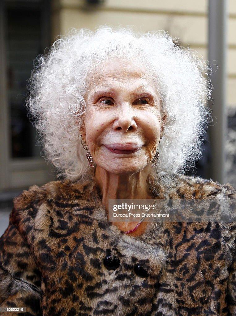 Duchess of Alba Cayetana Fitz-James Stuart is seen on March 13, 2014 in - duchess-of-alba-cayetana-fitzjames-stuart-is-seen-on-march-13-2014-in-picture-id480853219