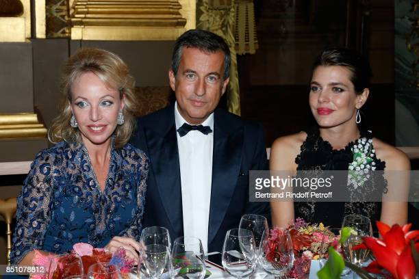 Duchess of Castro Camilla de Bourbon des DeuxSiciles CoPresident of the Opening Gala Cyril Karaoglan and Charlotte Casiraghi attend the Opening...