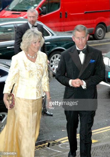 Duchess of Cornwall and Prince of Wales during The Far Pavillions Press Night in London Great Britain