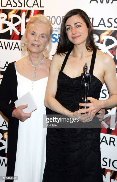 Duchess of Kent and Natalie Clien pose in the pressroom with the award for Young British Classical Performer at the Classical Brit Awards 2005 the...
