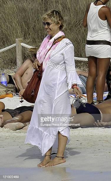 Duchess of Montoro Eugenia Martinez de Irujo is seen sighting on August 18 2011 in Ibiza Spain