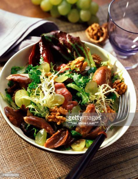 Duck and walnut salad