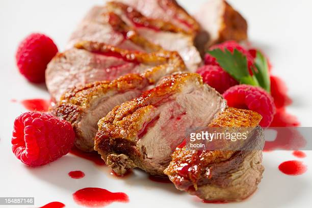 Duck Breast with Raspberry Sauce