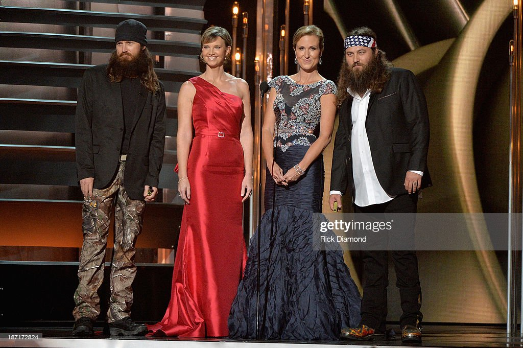 'Duck Dynasty' speaks onstage during the 47th annual CMA Awards at the Bridgestone Arena on November 6, 2013 in Nashville, Tennessee.