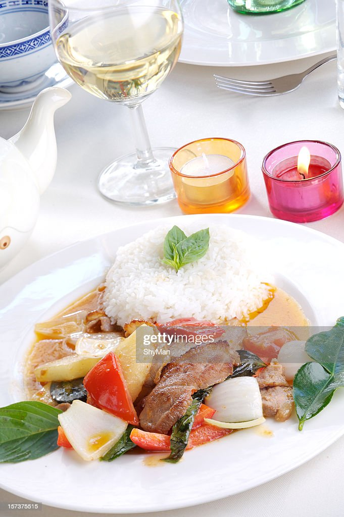 Duck in Red Curry : Stock Photo