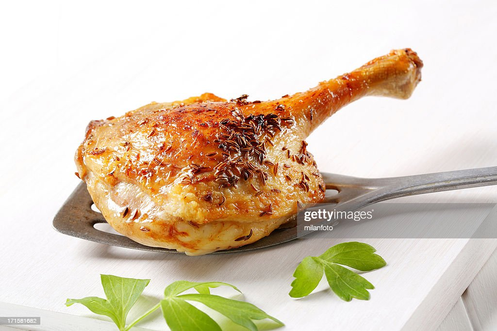 Duck leg on a laddle